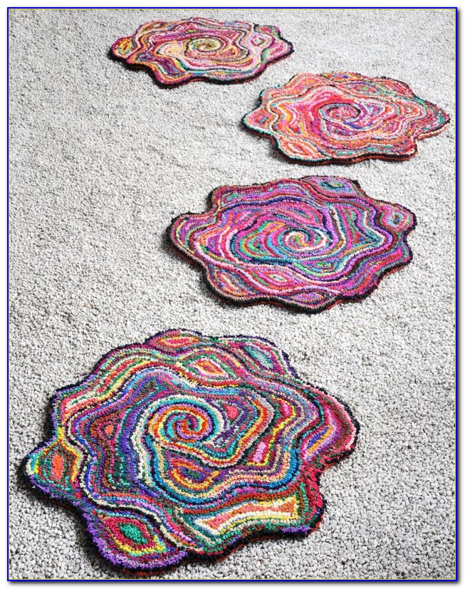 Small Flower Shaped Rugs