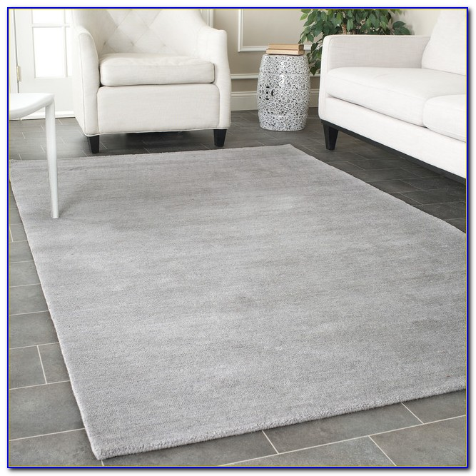 Solid Gray Rug 8x10