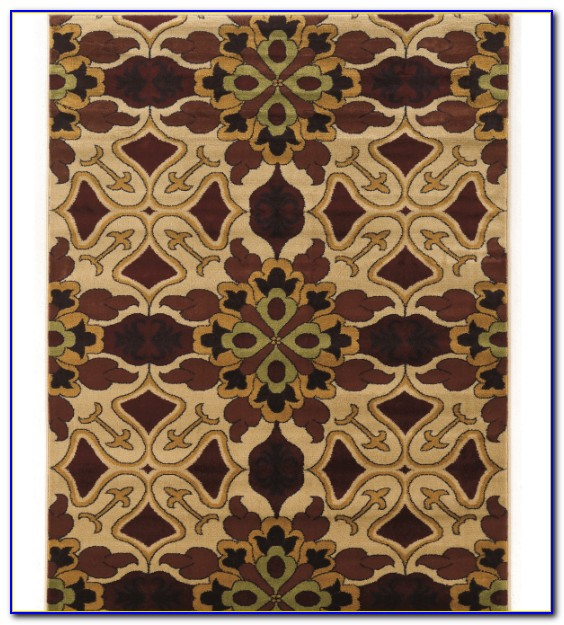 Tan Trellis Area Rug
