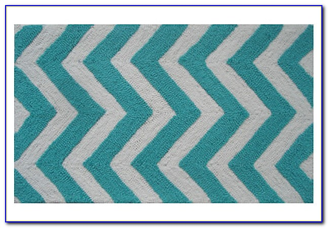 Turquoise Chevron Rug Urban Outfitters