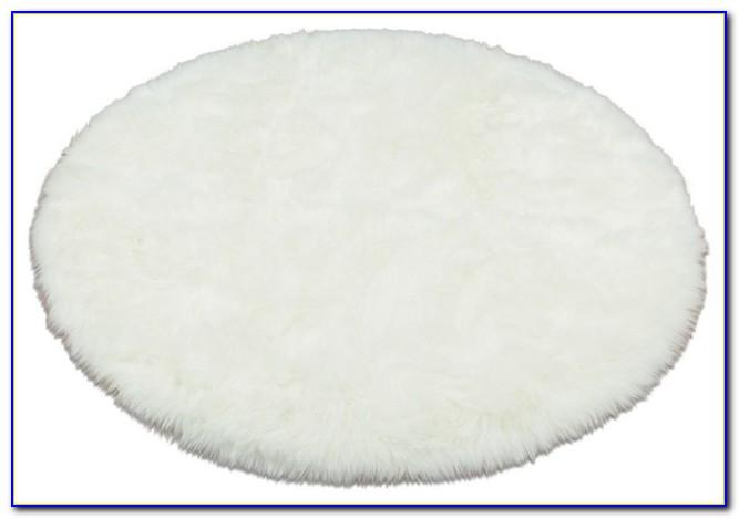White Fur Accent Rug