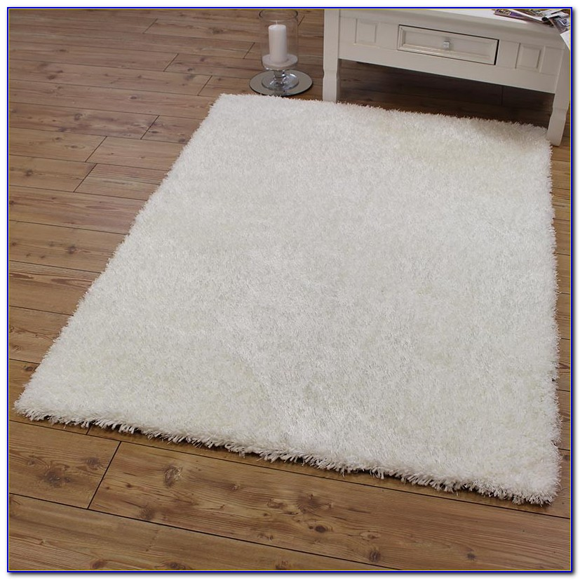 White Fuzzy Area Rug
