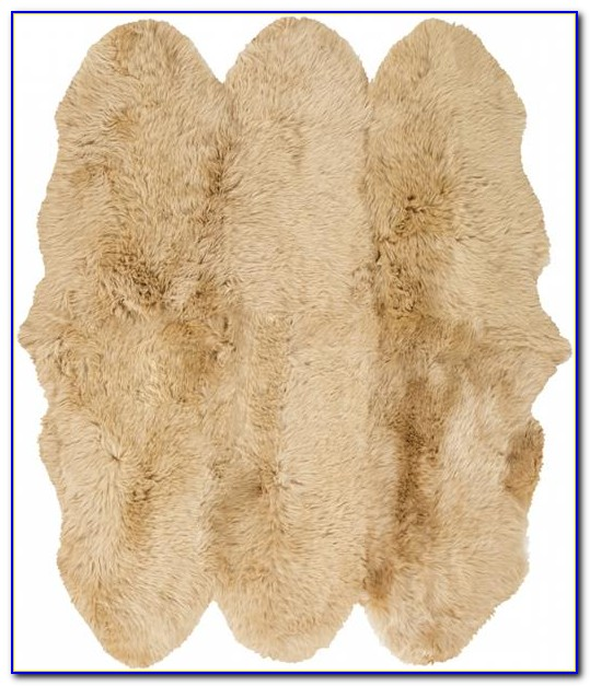 White Sheepskin Area Rug