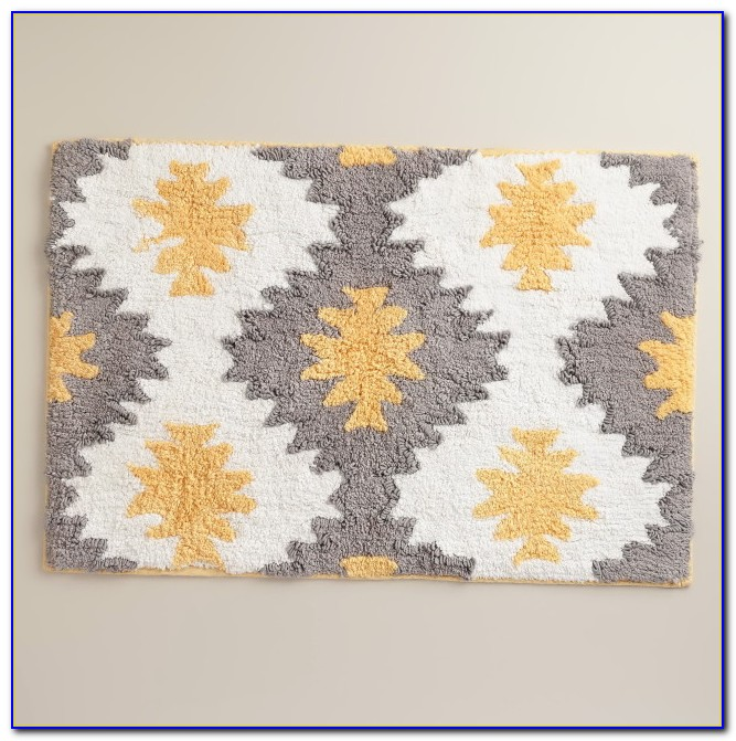 Yellow Bath Rug Runner