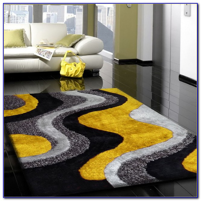 Yellow Chevron Runner Rug