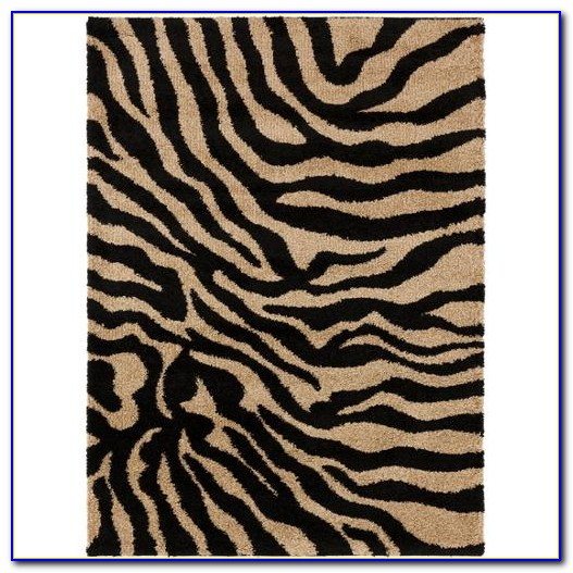 Zebra Print Area Rug 8x10