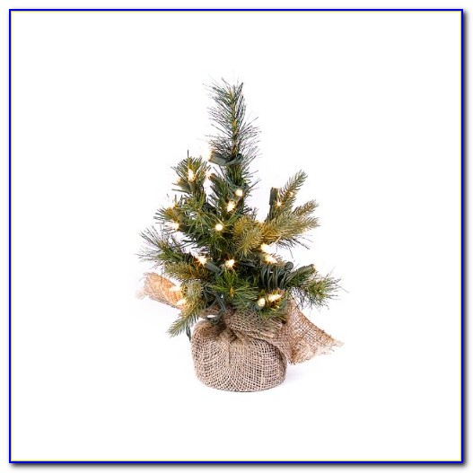 Artificial Pre Lit Tabletop Christmas Tree