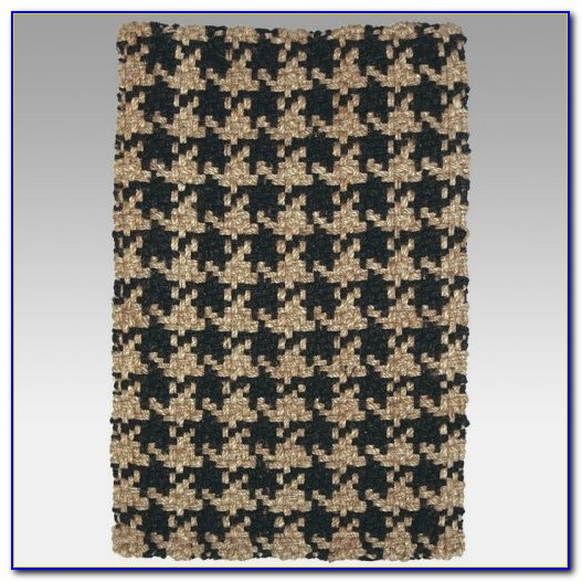 Brown Houndstooth Area Rug