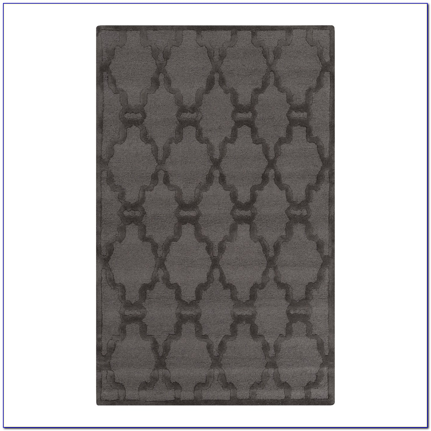 Charcoal And White Area Rug