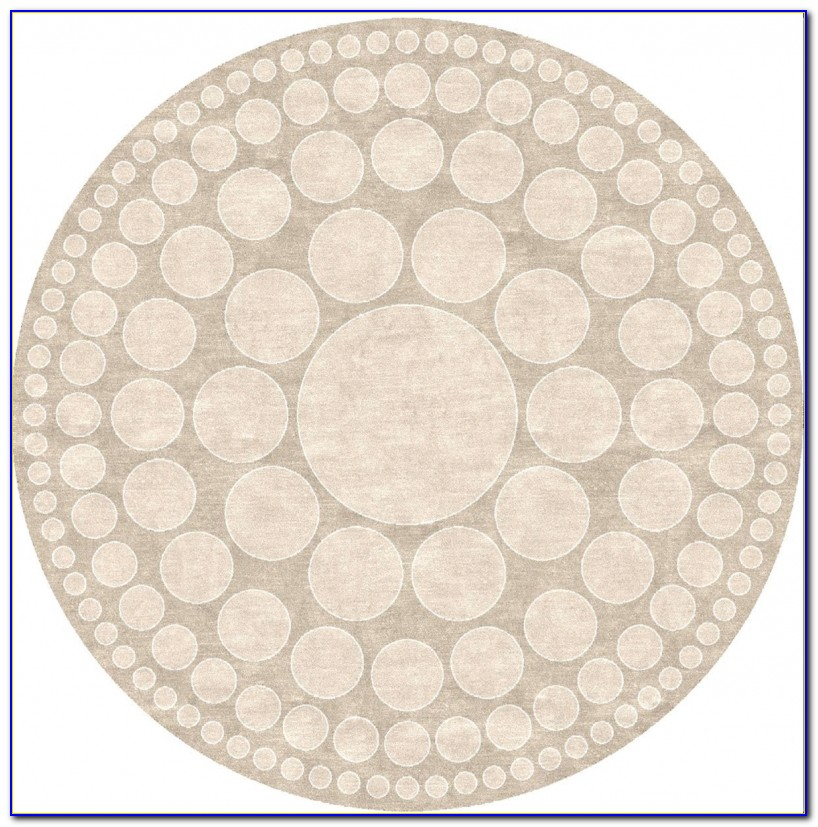 Circle Area Rugs Brown