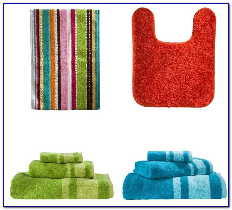 Colorful Cotton Bath Rugs