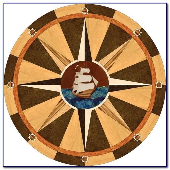 Compass Rose Throw Rug