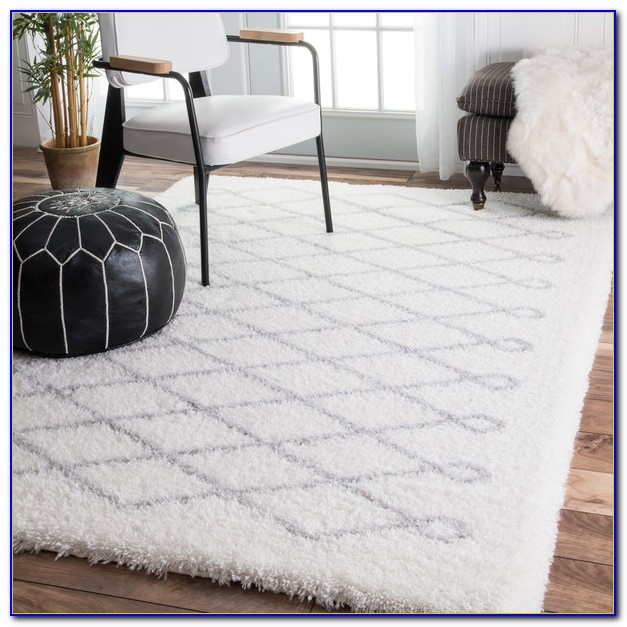 Fluffy Plush White Rug