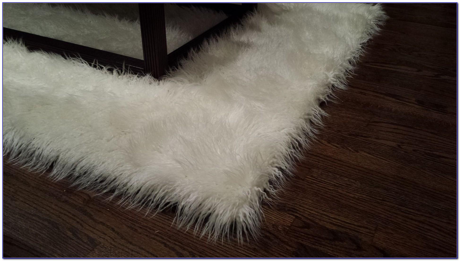 Gray Fur Area Rug