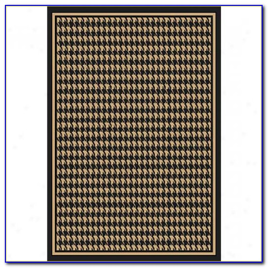 Grey Houndstooth Area Rug