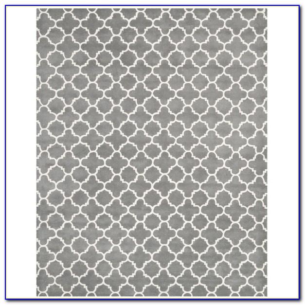 Grey Trellis Rug 8x10