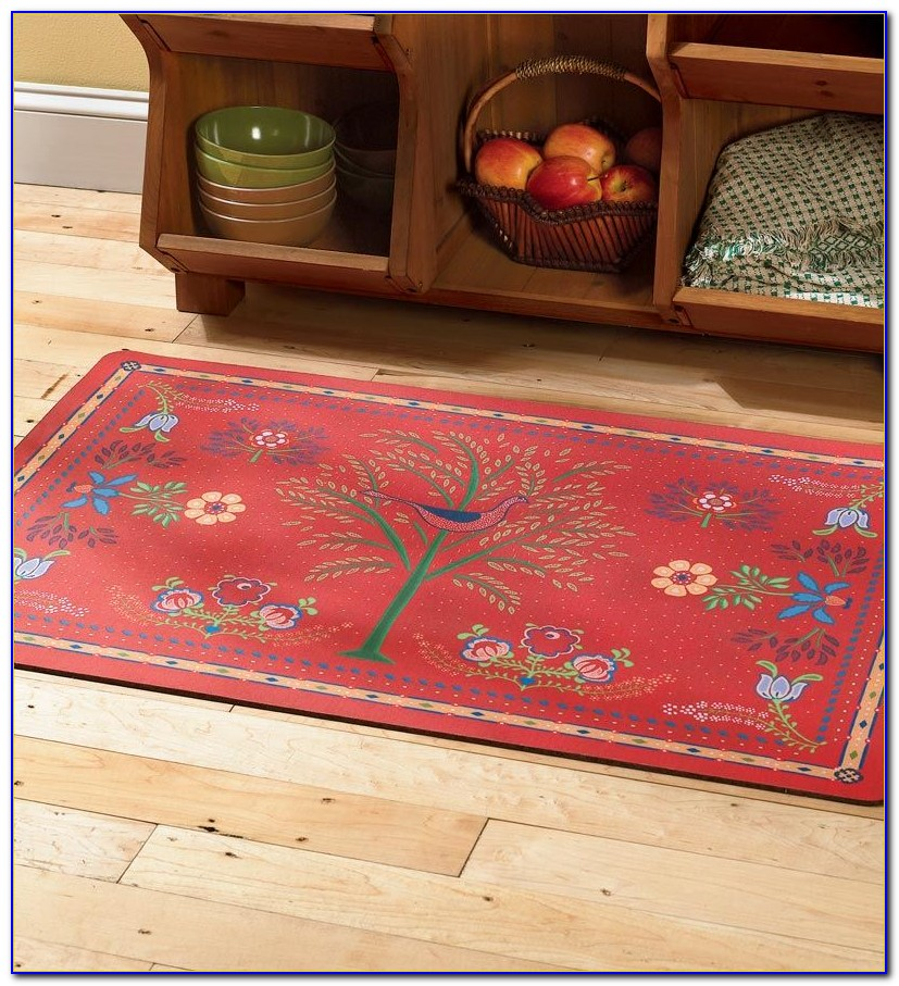 Kitchen Rug Runner Red