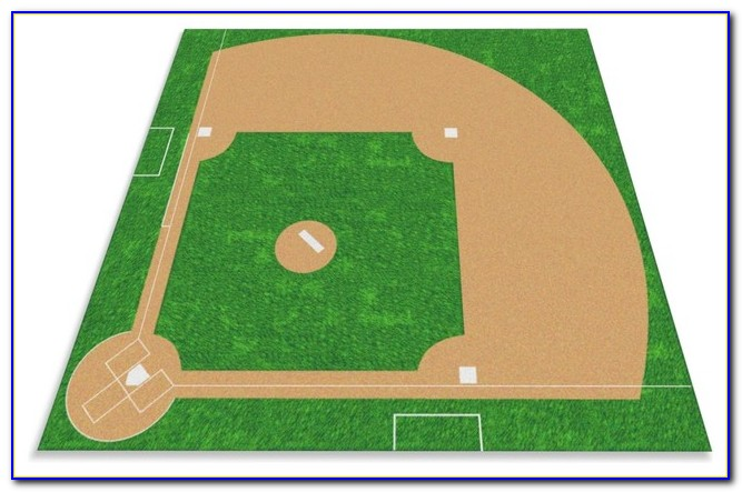 Large Baseball Area Rug