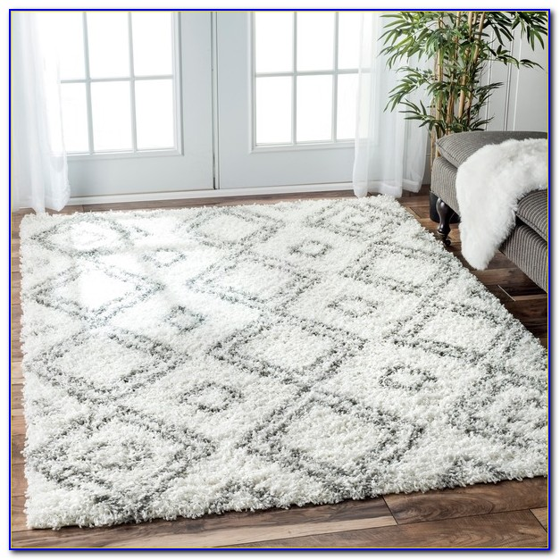 Large Plush White Rug
