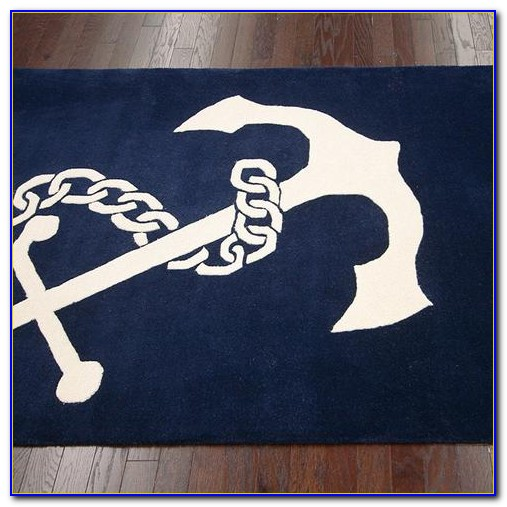 Navy Cotton Bath Rug