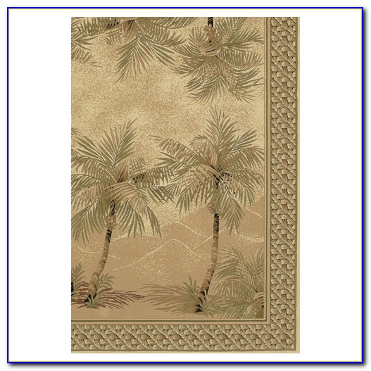 Palm Tree Border Area Rugs