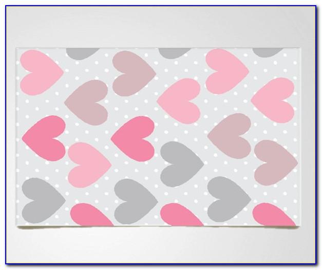 Pink Polka Dot Area Rug