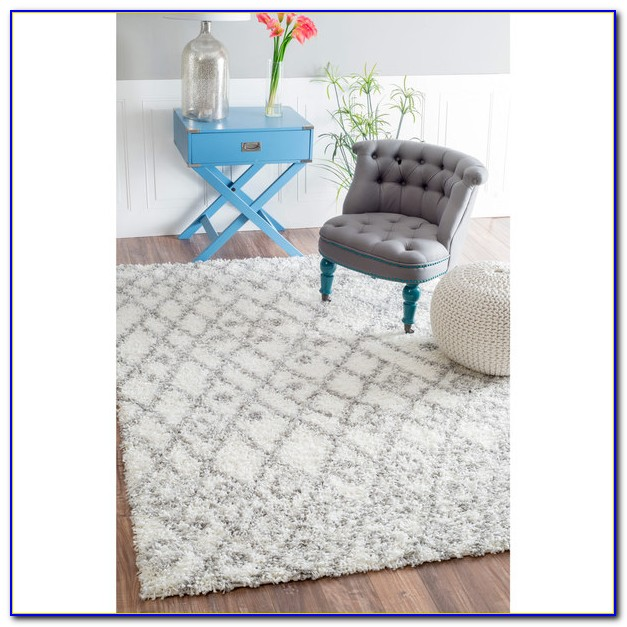 Plush White Area Rug