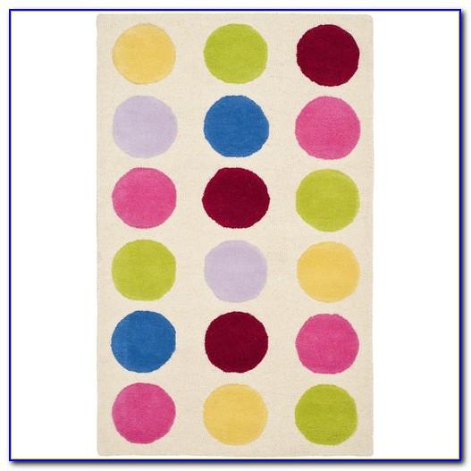 Polka Dot Area Rug 5x7
