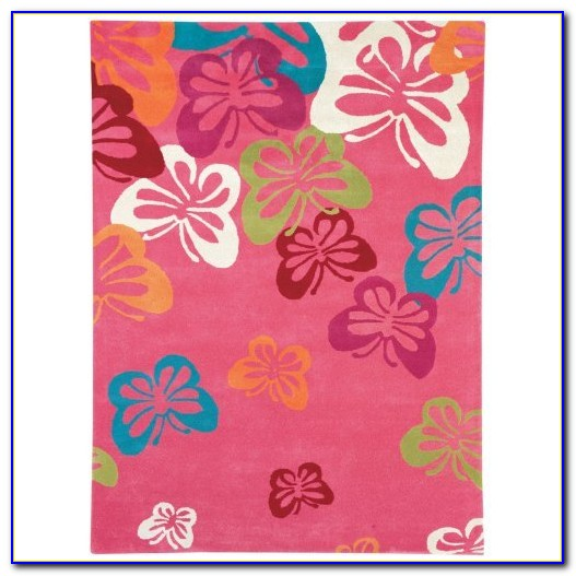 Purple Butterfly Area Rugs