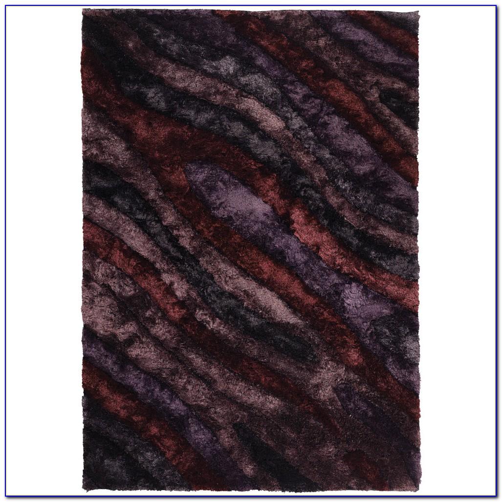 Purple Fuzzy Area Rug