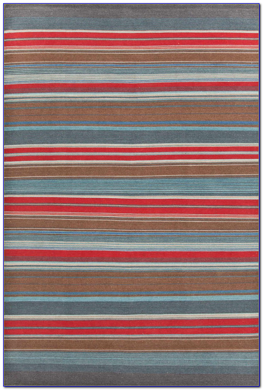 Red Striped Runner Rug