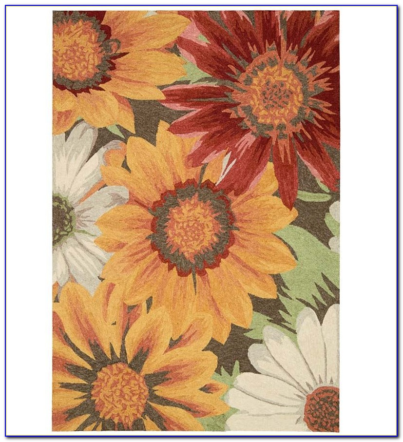 Round Sunflower Area Rugs