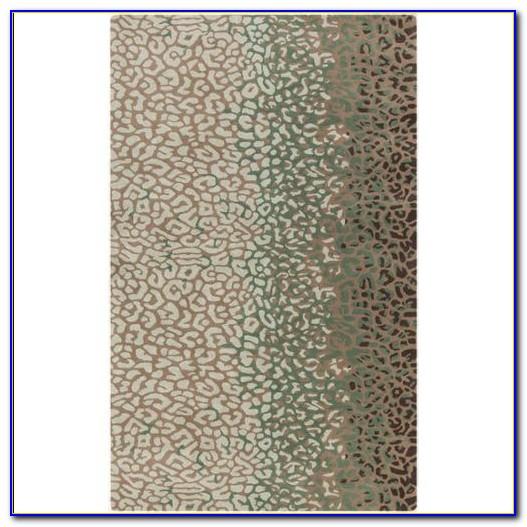 Seafoam Green Chevron Rug