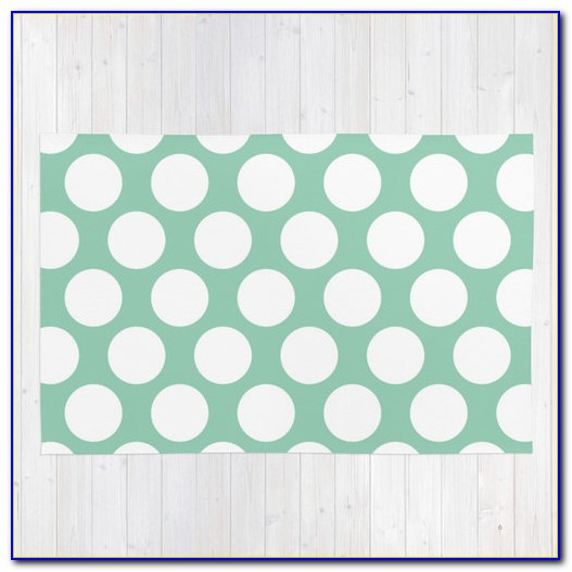 Seafoam Green Wool Rug