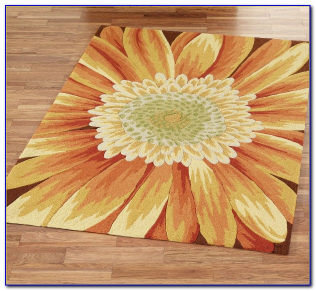 Sunflower Area Rug Large
