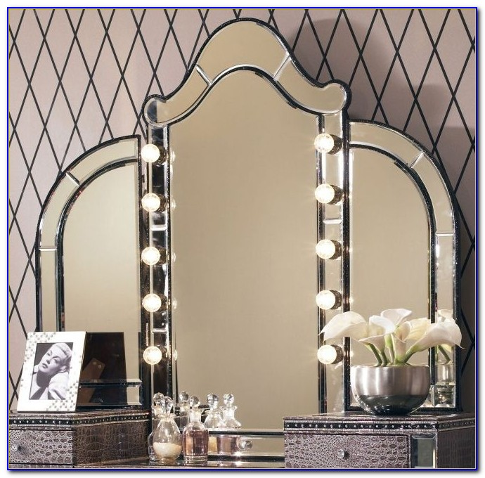 Tabletop Vanity Mirror With Lights