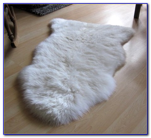 White Faux Fur Rug 8x10