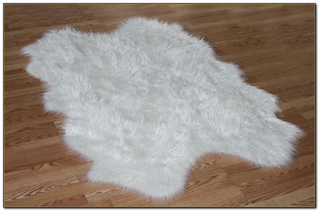 White Faux Fur Rug Target