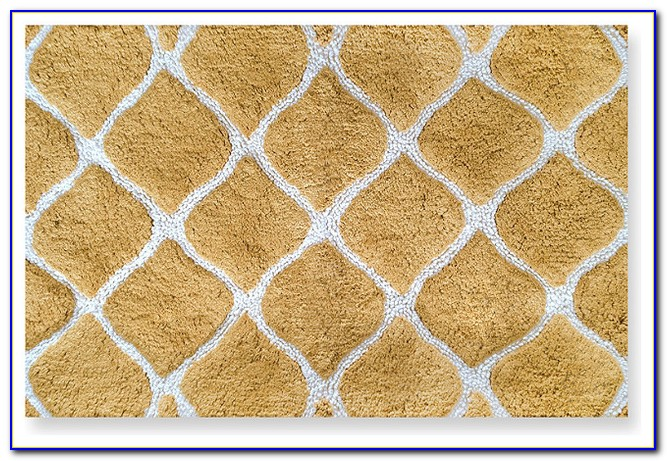 Yellow Gold Bathroom Rugs