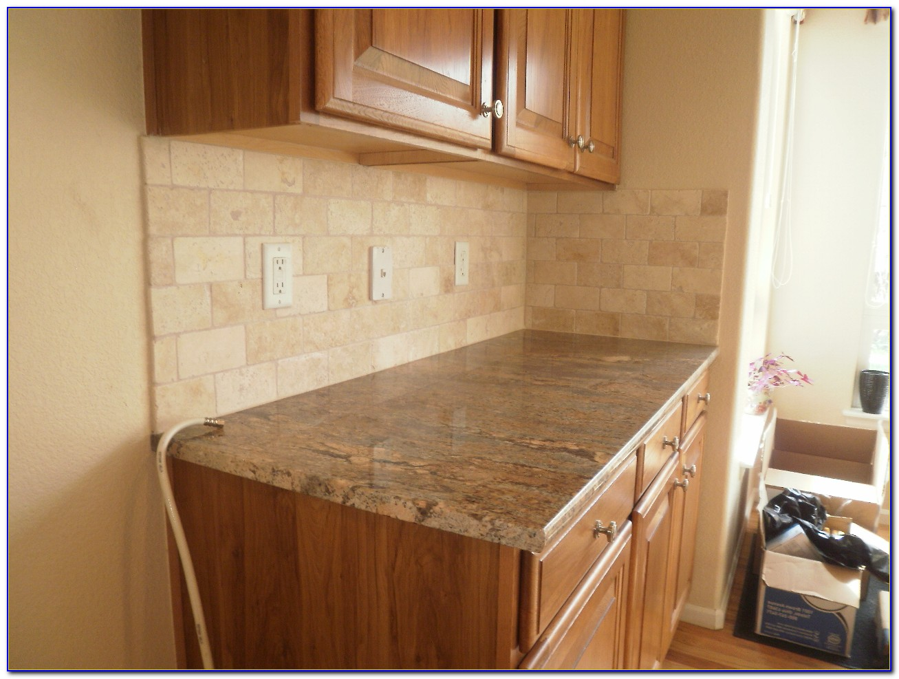 3x6 Travertine Subway Tile Backsplash