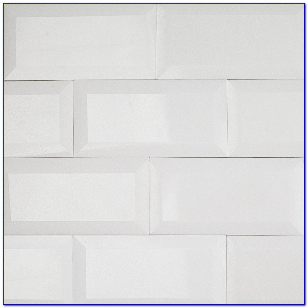 3x6 White Subway Tile On Mesh