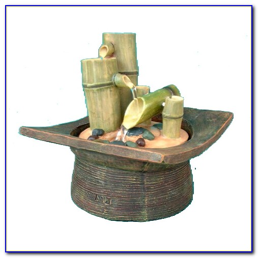 Alpine Calming Bamboo Tabletop Fountain