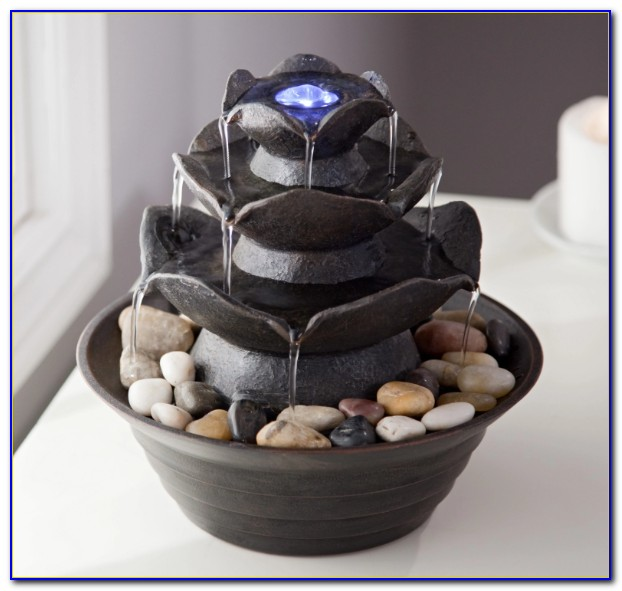 Alpine Win220 Tabletop Waterfall Fountain With Light