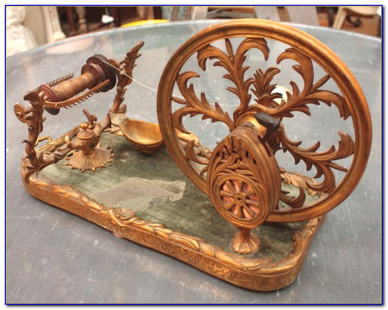Antique Tabletop Spinning Wheel