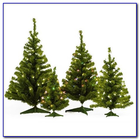 Artificial Christmas Trees Tabletop Decorated