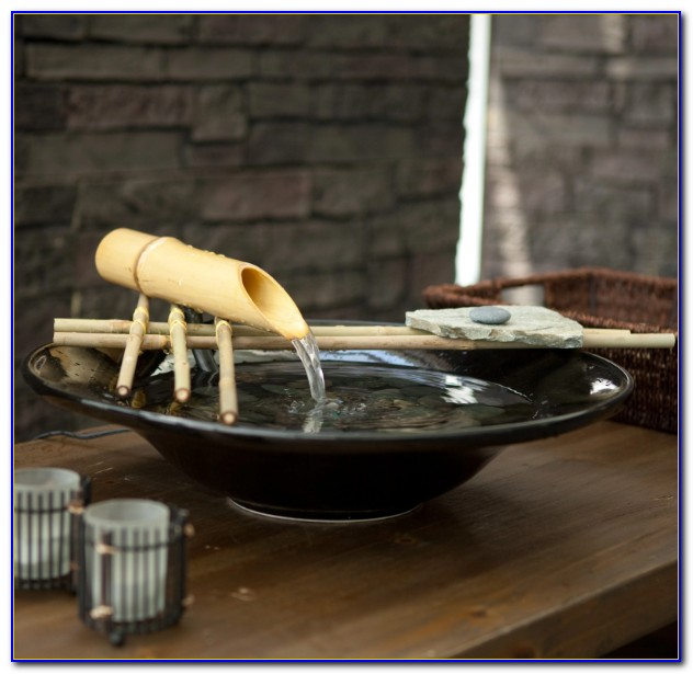 Bamboo Tabletop Water Fountain
