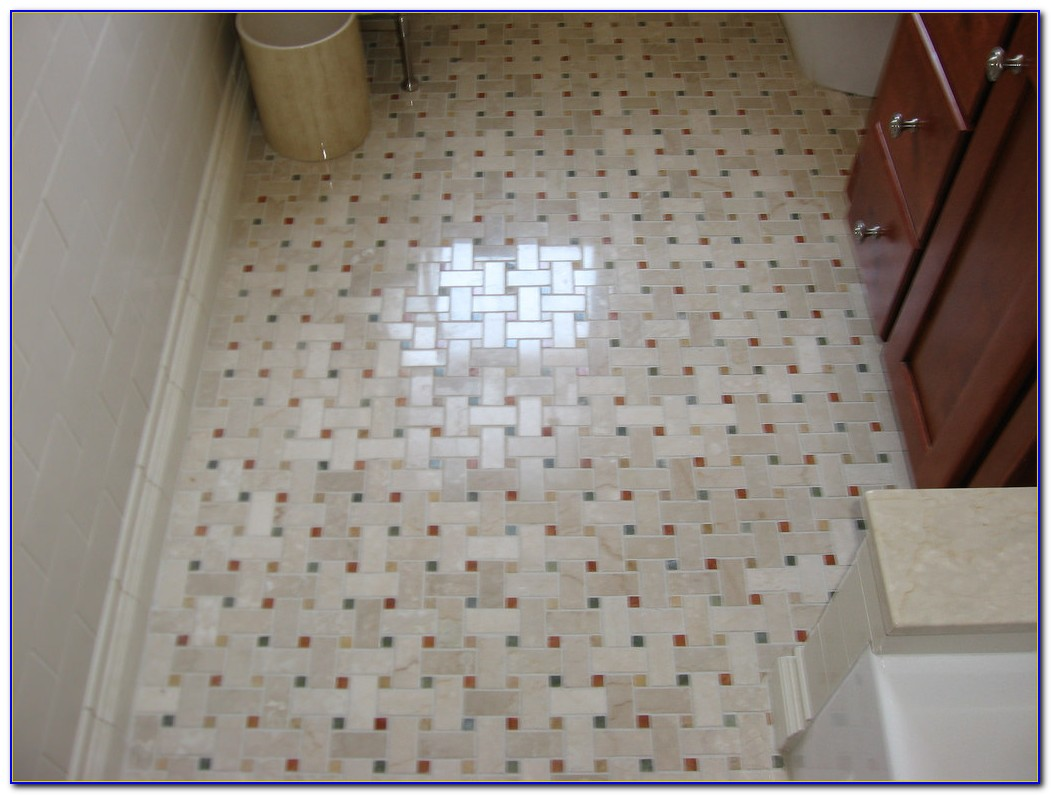 Basket Weave Floor Tile Bathroom