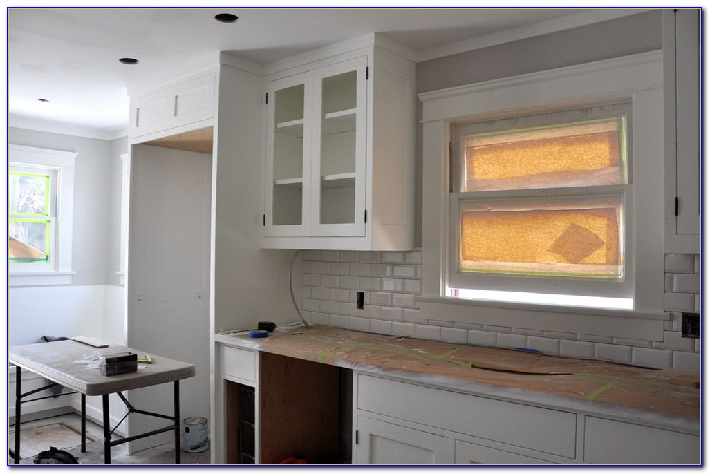 Beveled Subway Tile Backsplash Bathroom