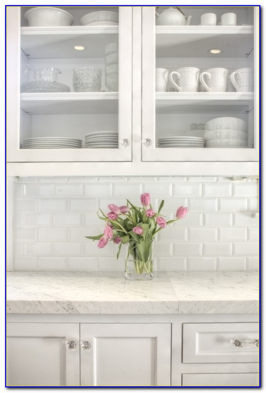 Beveled White Subway Tiles 3x6