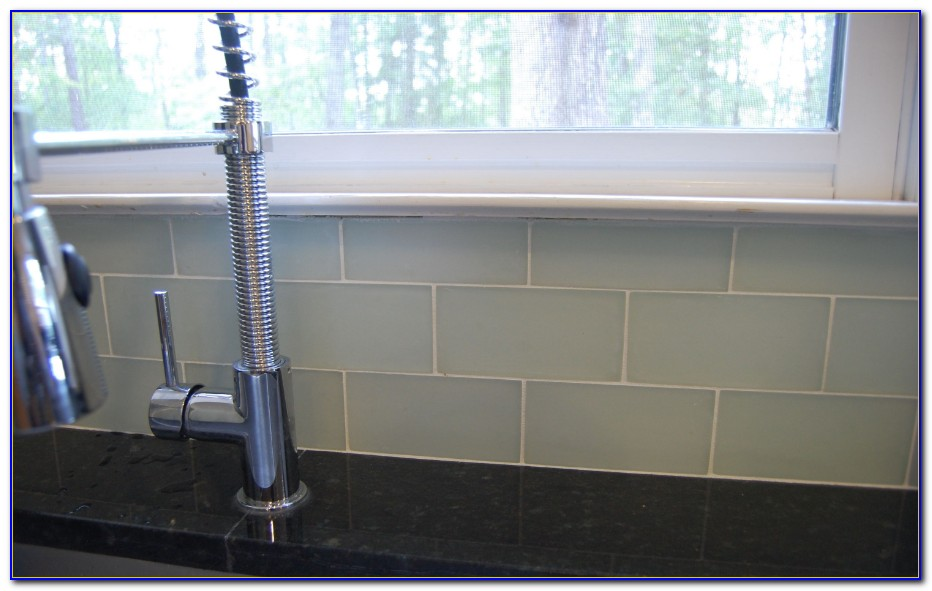 Blue Ceramic Subway Tile Backsplash